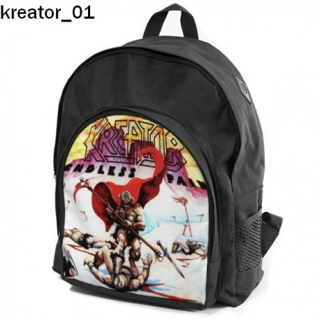 KREATOR Set school backpack pencil case + free mouse pad and patch
