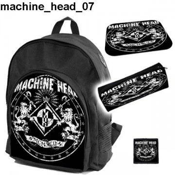 MACHINE HEAD Set school backpack pencil case + free mouse pad and patch