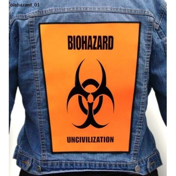 BIOHAZARD BIG BACK PATCH