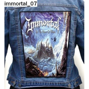 IMMORTAL BACKPATCH FREE SHIPPING