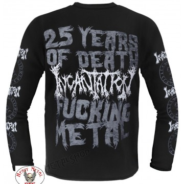 INCANTATION Entrantment of Evil Official Merchandise Luxi Artwork White T-Shirt