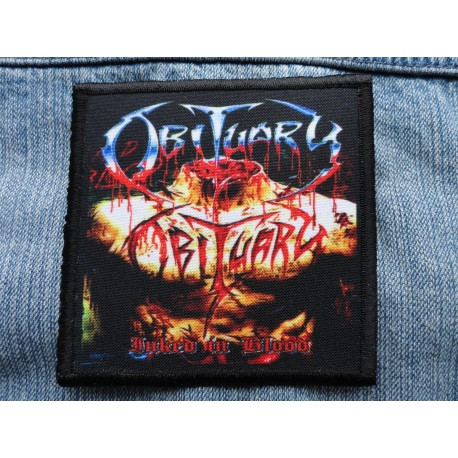 OBITUARY INKED IN BLOOD PATCH SALE