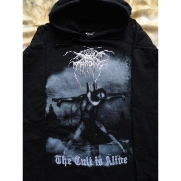 DARK THRONE OFFICIAL HOODIE ,,THE CULT IS ALIVE,, DARKTHRONE ORIGINAL MERCH BY WHITE CROW