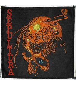 SEPULTURA OFFICIAL PATCH EMBROIDERED BENEATH THE REMAINS