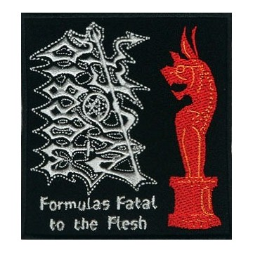 MORBID ANGEL OFFICIAL PATCH EMBROIDERED FORMULAS FATAL TO THE FLESH