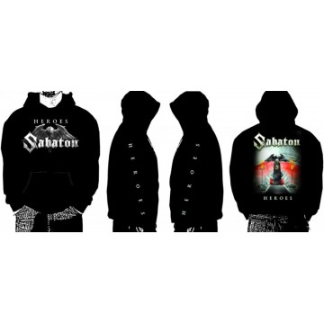 SABATON HEROSES new ! Official merchandise Sabaton Hoodie zipper