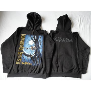 IRON MAIDEN - FEAR OF THE DARK HOODIE ZIPPER