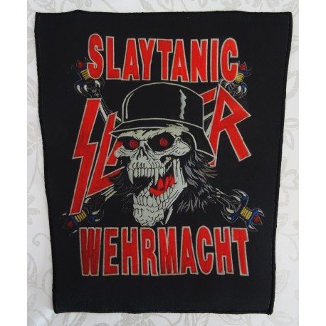 SLAYER SLAYTANIC WEHRMACHT BACKPATCH TOTAL CULT !