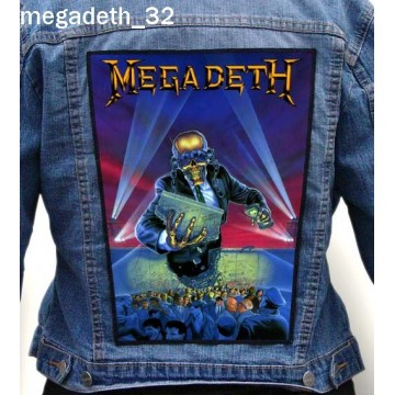 MEGADETH BIG BACK PATCH