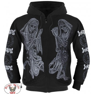 INCANTATION OFFICIAL ZIPPER HOODIE ,,DELIVERANCE,, TWENTY FIVE YEARS OF DEATH FUCKING METAL
