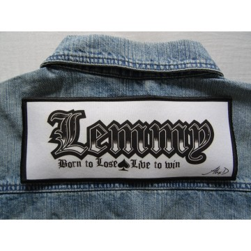Motörhead - Lemmy - Born to Lose , Live to Win - White Memorial Tribute Patch XXL Aufnaher Limited Edition