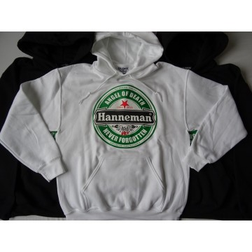 "HANNEMAN SLAYER -""Angel of Death"" WHITE HOODIE Gildan Men DryBlend™ Hooded Sweatshirt 325g/m2"