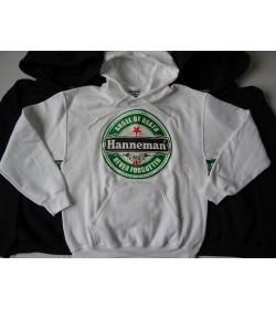 """HANNEMAN SLAYER -""""Angel of Death"""" WHITE HOODIE Gildan Men DryBlend™ Hooded Sweatshirt 325g/m2"""