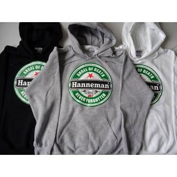 "HANNEMAN SLAYER -""Angel of Death"" GREY HOODIE Gildan Men DryBlend™ Hooded Sweatshirt 325g/m2"