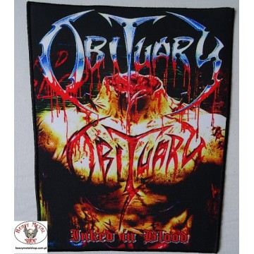 OBITUARY - ,,Inked in Blood,, Backpatch Giant Back Patch Rückenaufnäher Aufnäher