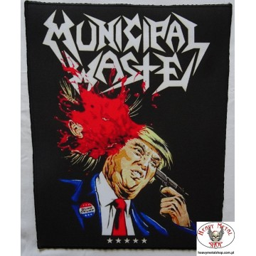 MUNICIPAL WASTE - ,,Dump Trump,, Backpatch Giant Back Patch Rückenaufnäher Aufnäher