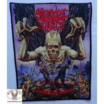 Suicidal Angels - ,,Divide and Conquer,, Backpatch Giant Back Patch Rückenaufnäher Aufnäher
