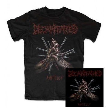DECAPITATED ,,Anticult,, NEW ALBUM SPECIAL PACK T-SHIRT+CD (autographs) Strictly Limited 50 PCS