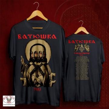 "BATUSHKA - LITOURGIYA ""EUROPEAN PILGRIMAGE TOUR"" Trinity Троица OFFICIAL T-SHIRT"