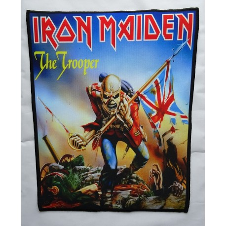 IRON MAIDEN THE TROOPER Backpatch Giant Back Patch Ruckenaufnaher Aufnaher