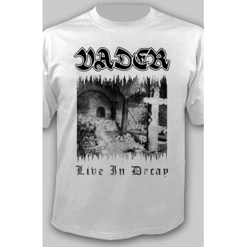 "VADER -""Live In Decay"" WHITE OFFICIAL T-SHIRT"