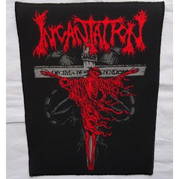INCANTATION - ,,Decimate Christendom,, Backpatch Giant Back Patch Rückenaufnäher Aufnäher