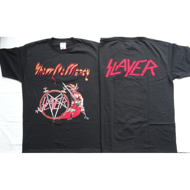 slayer show no mercy unique official t shirt. Black Bedroom Furniture Sets. Home Design Ideas