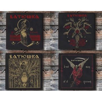 BATUSHKA SET FOUR OFFICIAL PATCHES LITOURGIYA