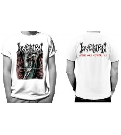 INCANTATION ONWARD JESUS WAS MORTAL 92 OFFICIAL WHITE T-SHIRT
