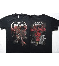 Obituary Inked In Blood European Tour Dates 2016 Blood Soaked & Brass Knuckles with European Tour Official T-Shirt