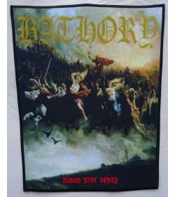 Bathory Blood Fire Death Backpatch Giant Back Patch Rückenaufnäher Aufnäher
