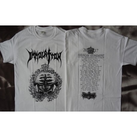Immolation American Atonement Us Tour 2017 Official White T-Shirt