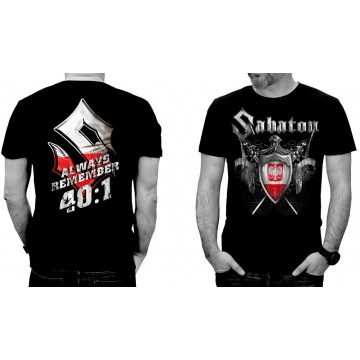 SABATON Official T-Shirt 40:1 ALWAYS REMEMBER Official Merchandise Sabaton