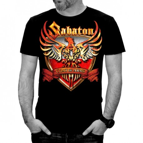 SABATON Official T-Shirt Coat Of Arms POLAND FIRST TO FIGHT Official Merchandise Sabaton