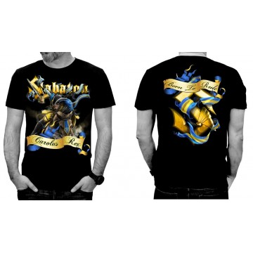 SABATON Official T-Shirt Born To Rule Carolus Rex Official Merchandise Sabaton