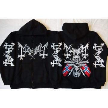 Mayhem 1984-2014 30 years Norwegian Pure Fucking Armageddon Hoodie Zipper Kapuzenjacke Zip