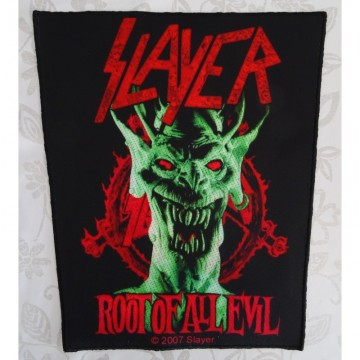 SLAYER ,,ROOT OF ALL EVIL,, BACKPATCH TOTAL CULT ! LIMITED EDITON !