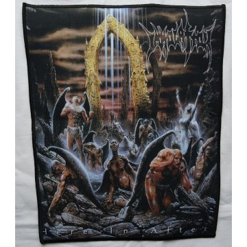 IMMOLATION Here in After Backpatch Giant Back Patch Rückenaufnäher Aufnäher Ltd