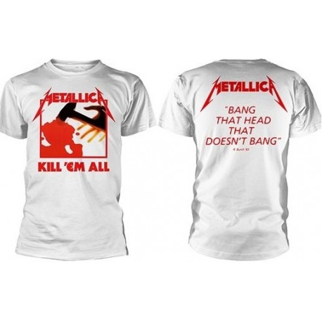 METALLICA Kill 'Em All White Official T-Shirt Jump In The Fire