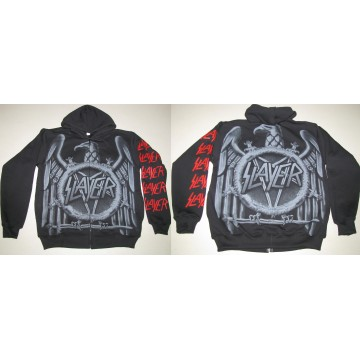 SLAYER EAGLE REPENTLESS ORIGINAL OFFICIAL ZIPPER HOODIE