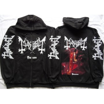 Mayhem Daemon Norwegian Pure Fucking Black Metal Hoodie Zipper Kapuzenjacke Zip