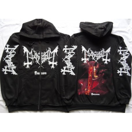 Mayhem Daemon Norwegian Pure Fucking Black Metal Hoodie Zipper Kapuzenjacke Zip