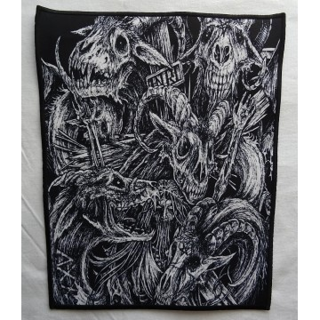 INCANTATION INRI GOAT Blasphemous Cremation Backpatch Giant Back Patch Rückenaufnäher Aufnäher