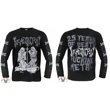 INCANTATION OFFICIAL Deliverance of Horrific Prophecies 25 YEARS DEATH FUCKING METAL LONGSLEEVE