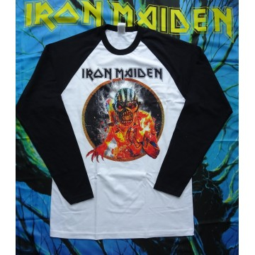 IRON MAIDEN Official The Book Of Souls Eddie Baseball Shirt