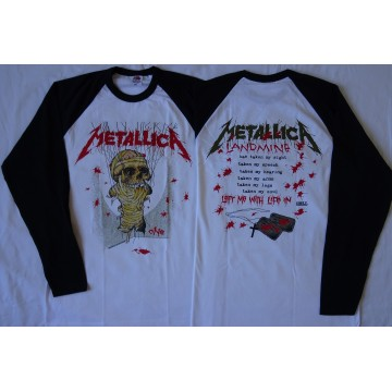 METALLICA One Landmine ...And Justice For All Official Longsleeve