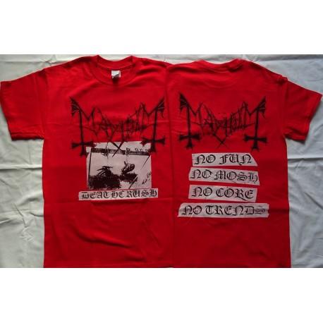 Mayhem Deathcrush T-Shirt Men's Red Official Ltd Official Merchandise
