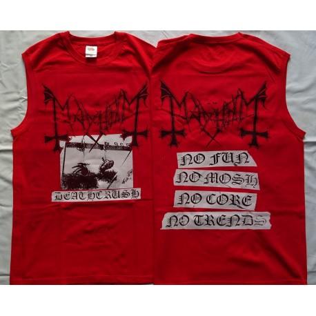 Mayhem Deathcrush Red Top-Tank Official Ltd Official Merchandise