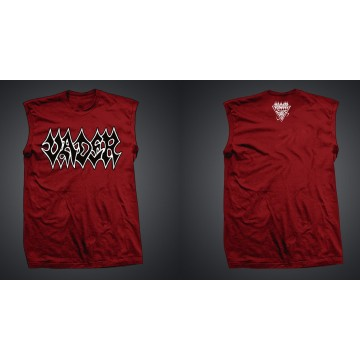 Vader Red Tank Top Logo Black
