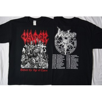 "VADER - ""Before The Age of Chaos"" OFFICIAL TOUR T-SHIRT"